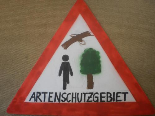 Artenschutzgebiet Schild